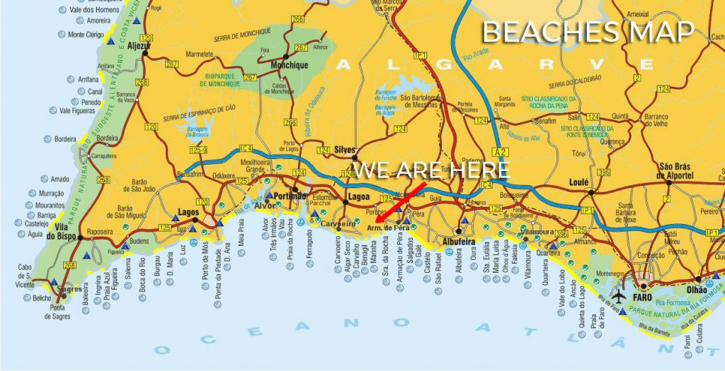 Algarve Beaches Map