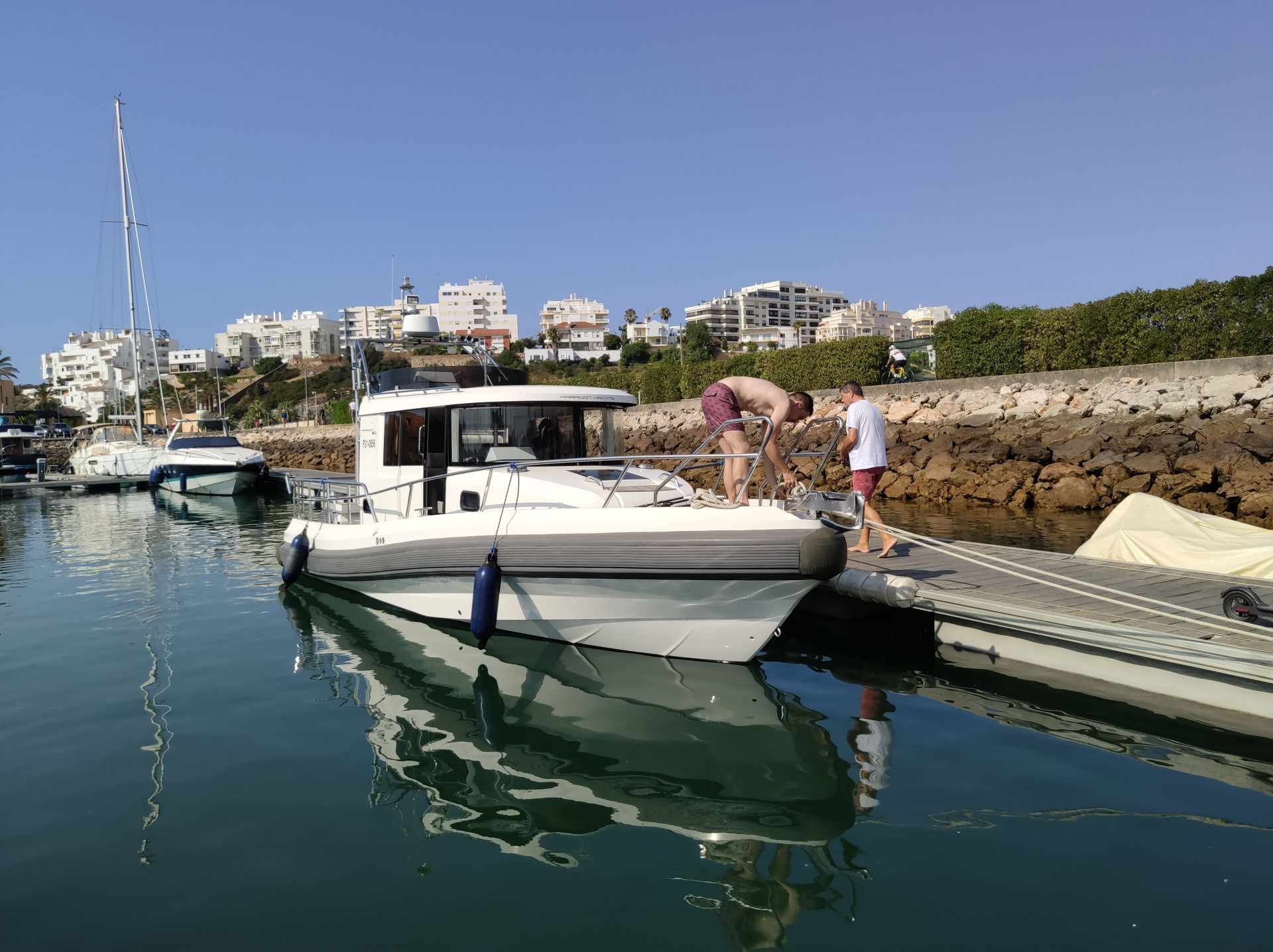 Yacht in the Portimão marina